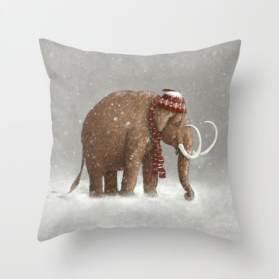 The Ice Age Sucked Throw Pillow
