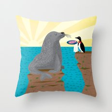 Sealed With A Fish Throw Pillow