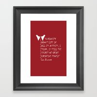 QUOTE-3 Framed Art Print