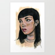 Art Print featuring Candy Girl by L'Atelier KALEB