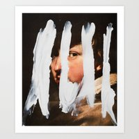 Art Print featuring Untitled (Finger Paint 2) by Chad Wys