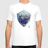 The Hylian Shield Mens Fitted Tee White SMALL
