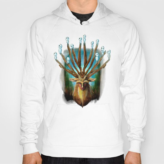 Princess Mononoke The Deer God Shishigami Tra Digital Painting. Hoody
