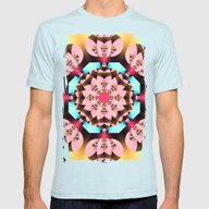 Pink, Blue, Brown And Ye… Mens Fitted Tee Light Blue SMALL