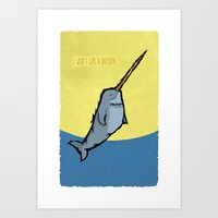 I Wish I Was A Unicorn Art Print