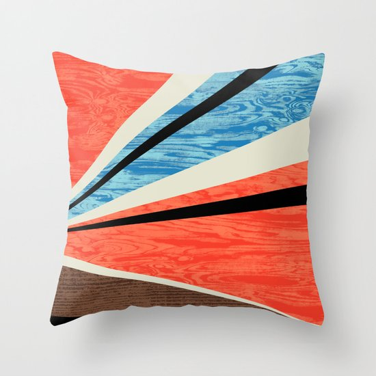 Graphic Woodgrain Throw Pillow