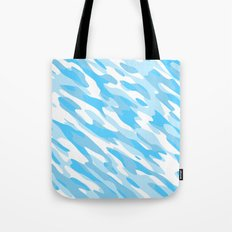 Blue and white Camo anstract Tote Bag