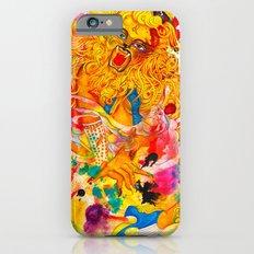 Leo: The Proud Lion (July 23 - August 22) / Gouache Original A4 Horoscope Illustration / Painting iPhone 6 Slim Case