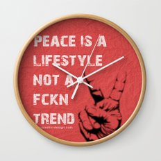 Peace Out!  Wall Clock