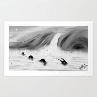 Lake Apparition Art Print