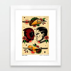 Comics Tattoo Flash Framed Art Print