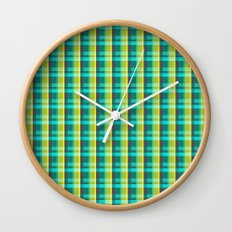 Lumberjack Attack! Plaid Wall Clock