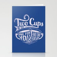 Two cups of tea Stationery Cards