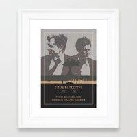 Poster True Detective 3 Framed Art Print