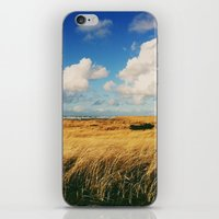 Clouds Over Windy Field … iPhone & iPod Skin