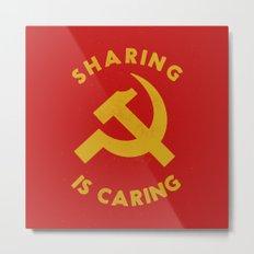 Sharing Is Caring Metal Print
