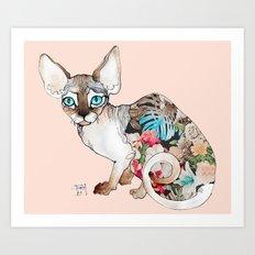 sphinx cat Art Print