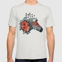 Untamed Mens Fitted Tee Silver SMALL