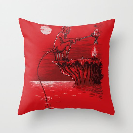 dinner portable Throw Pillow