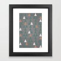 Concrete & Pattern Framed Art Print