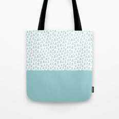 Triangles Mint Tote Bag