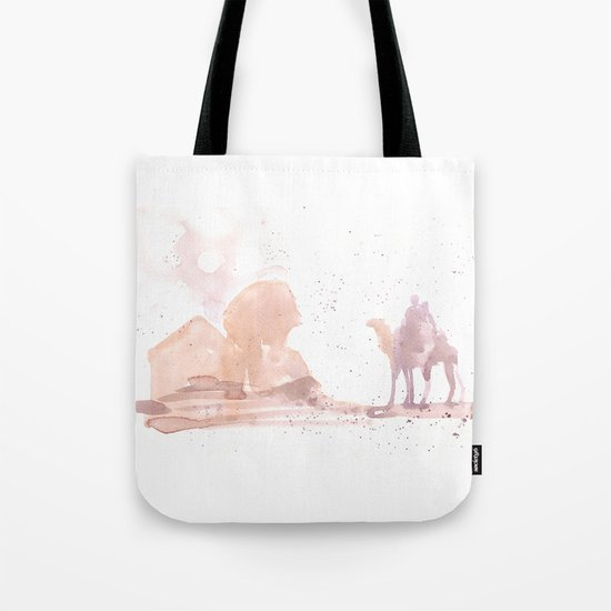 Watercolor landscape illustration_Egypt Tote Bag