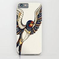 iPhone & iPod Case featuring Swallow // Animal Poker by Andreas Preis