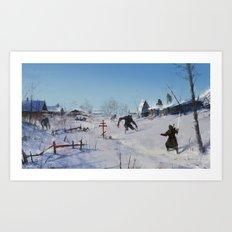 very severe winter... Art Print