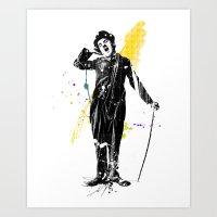 charlie chaplin 05 Art Print