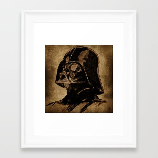 VINCENT DARTH VADER Framed Art Print