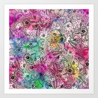 Modern Colorful Hand Dra… Art Print
