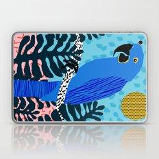 Steaz - memphis throwback tropical retro minimal bird art 1980s 80s style pattern parrot fashion Laptop & iPad Skin