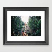 Chairlift Framed Art Print