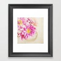 Sweet Peonies Framed Art Print