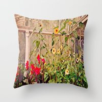 Sunflower Gardens Throw Pillow