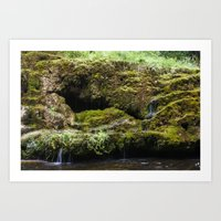The Staburags Cliff Of R… Art Print