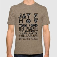 Eye Test - JAY Z Mens Fitted Tee Tri-Coffee SMALL