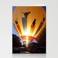 Kitty Hot-Air Balloon Stationery Cards