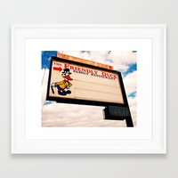 Framed Art Print featuring The Friendly Duck Restaurant by Vorona Photography