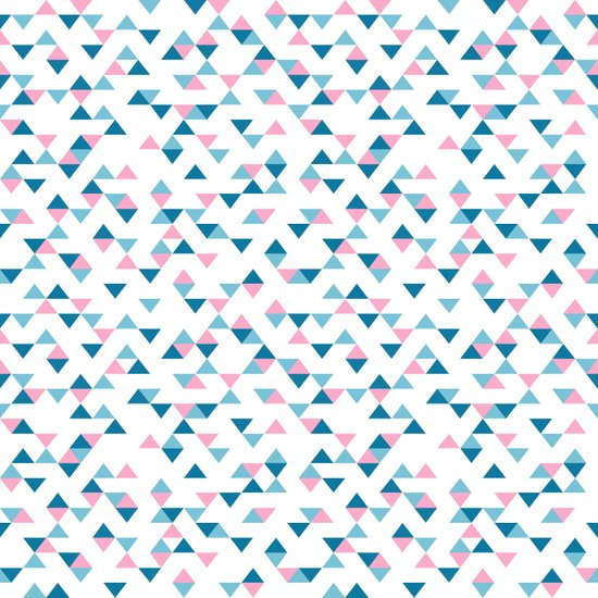 Triangles Blue and Pink Repeat Canvas Print