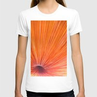 Orange And Red Womens Fitted Tee White SMALL