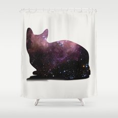Willow the Galaxy Cat! Shower Curtain