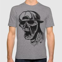 SNAPBACK Mens Fitted Tee Athletic Grey SMALL