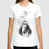 Swan Love Womens Fitted Tee White SMALL