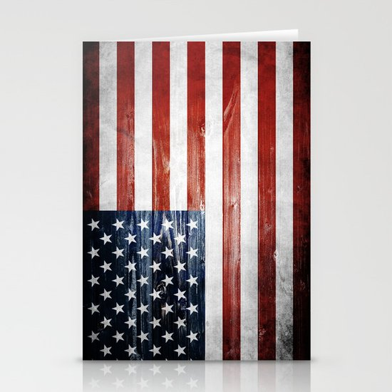 American flag Stationery Card