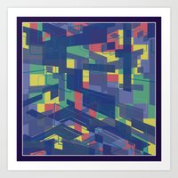 Blocklike Art Print