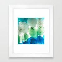 Capiz Shells Framed Art Print