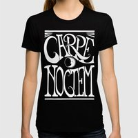 Carpe Noctem - black Womens Fitted Tee Black SMALL