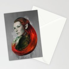 Head of Elven Stationery Cards