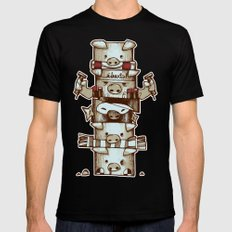 Totem Black SMALL Mens Fitted Tee